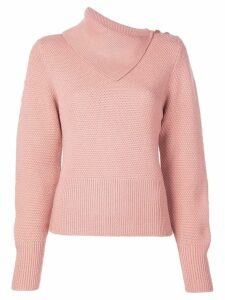Jonathan Simkhai flapped-neck knit top - Pink