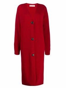Marni long v-neck cardigan - Red