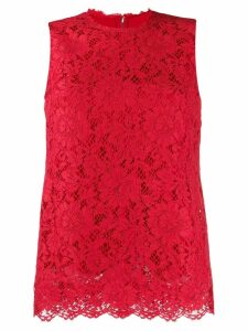 Dolce & Gabbana sleeveless lace top - Red