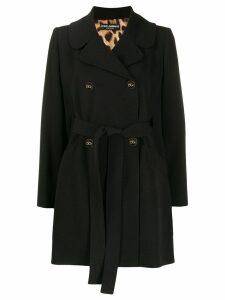Dolce & Gabbana double-breasted tie-waist coat - Black
