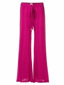 Zeus+Dione Alcestes flared trousers - PINK