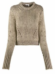 Chloé cropped knitted jumper - NEUTRALS