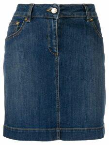 Moschino Teddy pocket denim skirt - Blue