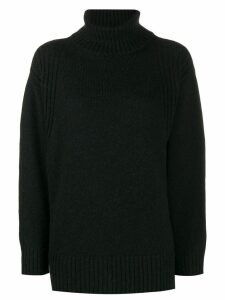 Roberto Collina oversized roll-neck jumper - Black