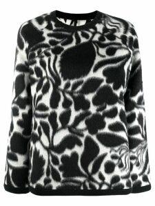 Sara Lanzi floral print jumper - Black