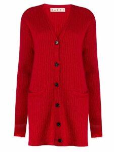 Marni oversized v-neck cardigan - Red