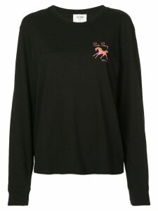 Re/Done Pink Pony T-shirt - Black
