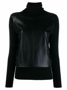 Snobby Sheep panelled turtleneck jumper - Black