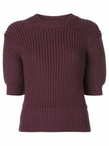 Miu Miu short sleeved knitted jumper - Purple