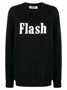 MSGM Flash oversized sweatshirt - Black