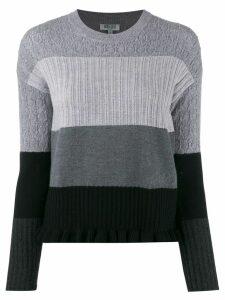 Kenzo multi-knit jumper - Grey