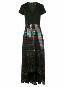 Badgley Mischka V-neck sequin gown - Black