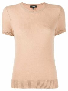 Theory short sleeved knit jumper - NEUTRALS
