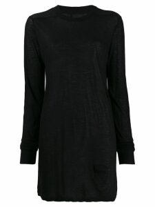 Rick Owens DRKSHDW long-line knit top - Black