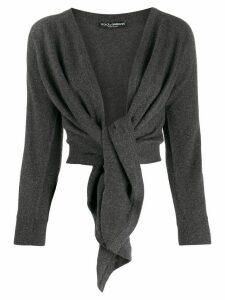 Dolce & Gabbana tie-front cardigan - Grey
