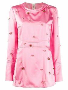Marni piercing detail blouse - PINK