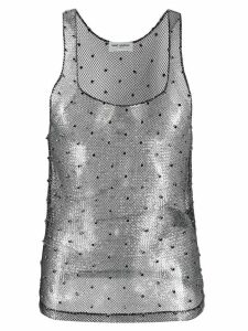 Saint Laurent chain link embellished sleeveless top - SILVER