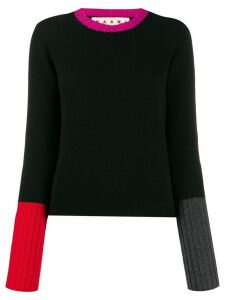 Marni cashmere colour-block jumper - Black