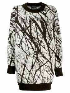 Erika Cavallini two-tone print jumper - Brown