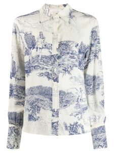 Chloé graphic print shirt - NEUTRALS