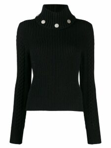 Alexander McQueen studded ribbed knit jumper - Black