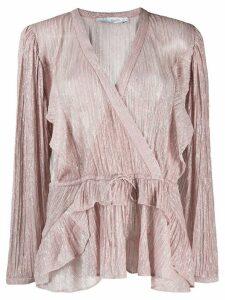 IRO wrap front blouse - PINK