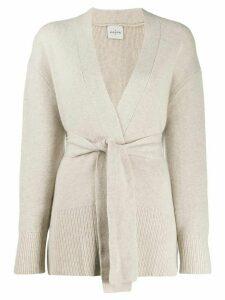 Le Kasha long-sleeve draped cardigan - Brown