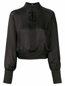 Balmain high-neck keyhole blouse - Black