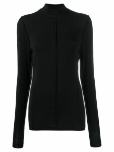 GANNI slim fit turtle neck top - Black