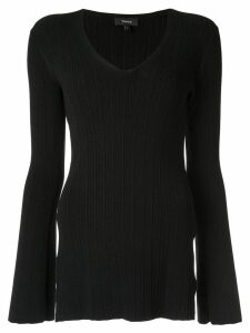 Theory fitted V-neck pullover - Black