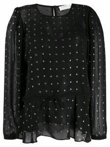 IRO studded crepe-chiffon blouse - Black