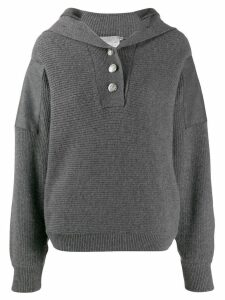 Stella McCartney button placket jumper - Grey