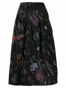 A.F.Vandevorst Sheriff print pleated skirt - Black