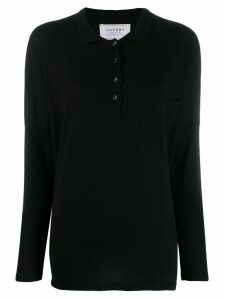 Snobby Sheep knitted polo shirt - Black