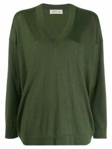 Lamberto Losani long-sleeve fitted sweater - Green