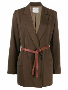 Forte Forte belted blazer jacket - Brown
