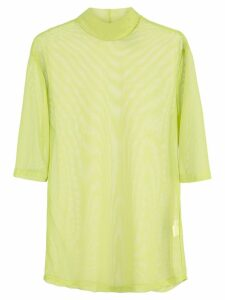 Nomia sheer mock neck top - Green