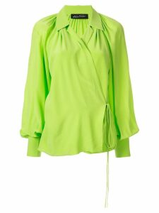 Anna October wrap relaxed blouse - Green