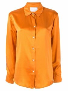 Asceno Marigold plain shirt - ORANGE