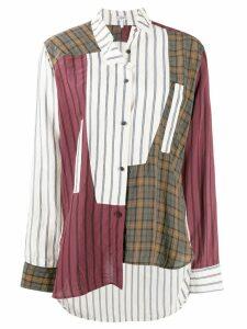 Loewe patchwork check shirt - White