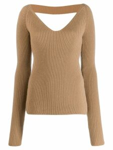 Nº21 open back knitted sweater - NEUTRALS