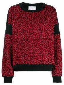 Philosophy Di Lorenzo Serafini leopard print sweater - Red