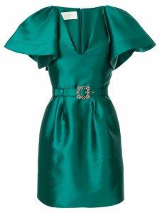 Alberta Ferretti crystal embellished mikado dress - Green