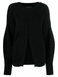 Federica Tosi front slit jumper - Black