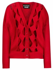 Boutique Moschino Cut-work cardigan - Red