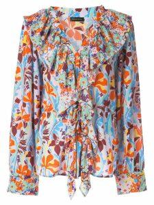 Stine Goya Mila floral print blouse - ORANGE