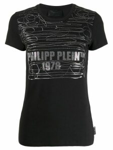 Philipp Plein scattered ink print T-shirt - Black