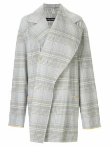Y/Project oversized checked shirt jacket - Grey