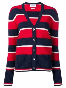 Thom Browne Wide Repp Stripe Relaxed Cardigan - Blue