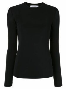 Max Mara long-sleeved fitted T-shirt - Black